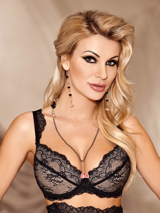 Podprsenka Ambre Black push-up
